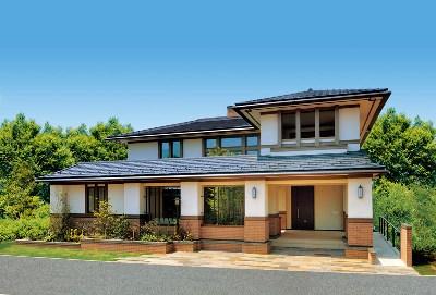重厚な中にも繊細さが薫るデザインハウス(三井ホーム)