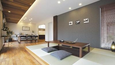洋室と和室を組み合わせたモダンな空間(住友林業)