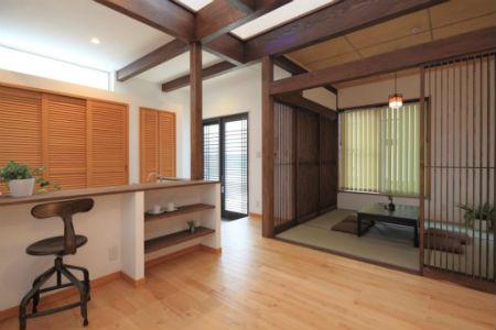 木のすまい工房の和モダン住宅1