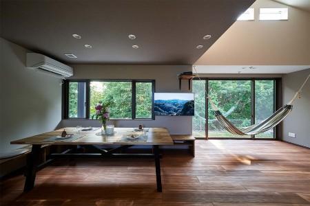 タクト設計事務所の施工例4_家の中の自然空間