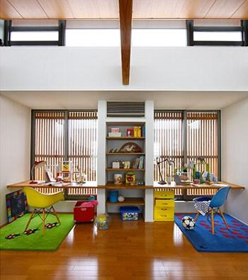 兄弟でバランスよく空間を共有できる部屋(住友林業)