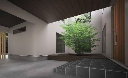 シノスタイルの中庭のある家2