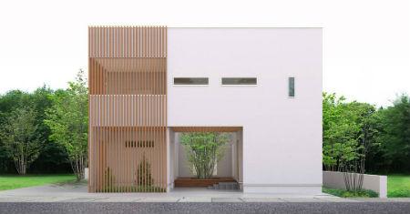 シノスタイルの中庭のある家1