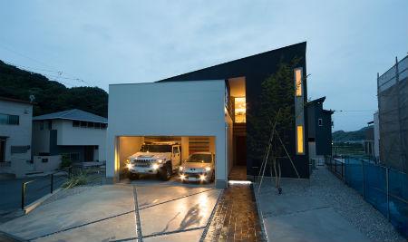 立田工務店の施工例_片流れ屋根のスタイリッシュな家