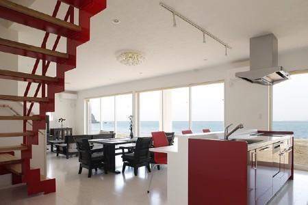 タクト設計事務所の施工例5_海を見渡すくつろぎの空間